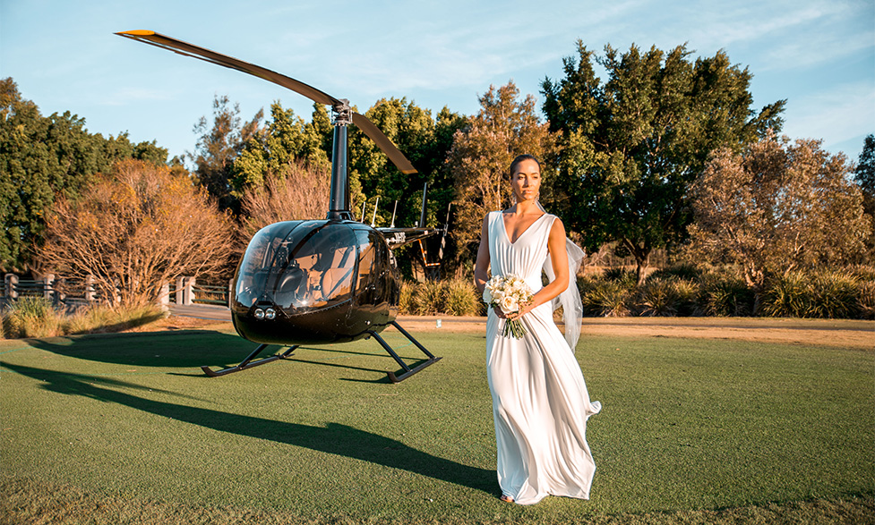 Wedding Transport by Helicopter